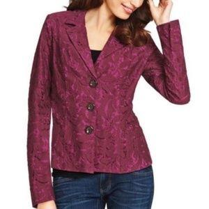 Cabi frolic plumberry lace blazer 6 Style #128